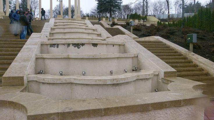 Каскадная лестница в Кисловодске. Реконструкция.