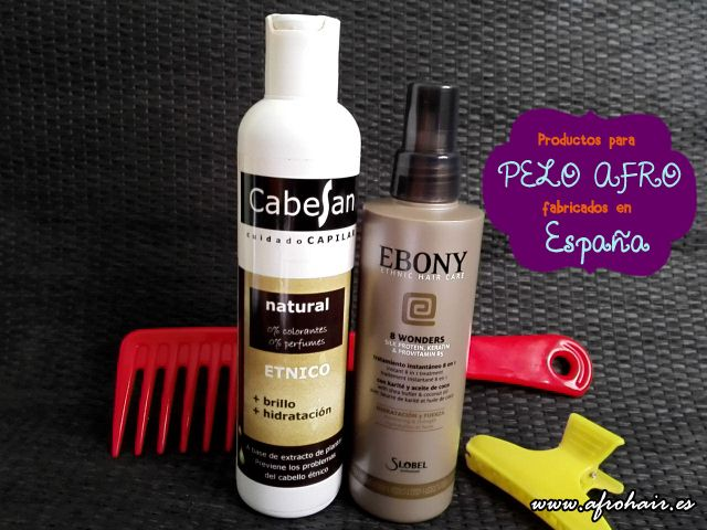 Natural hair products from Spain http://afrohair.es/2014/12/productos-afro-espana.html