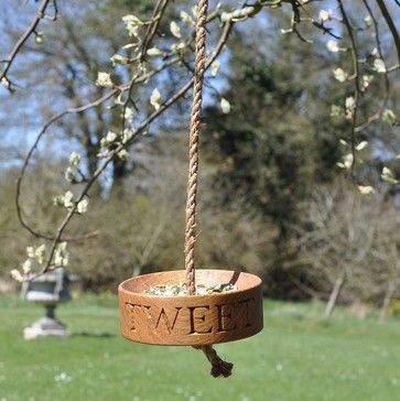Solid oak bird feeder - traditional - Bird Feeders - Not on the High Street