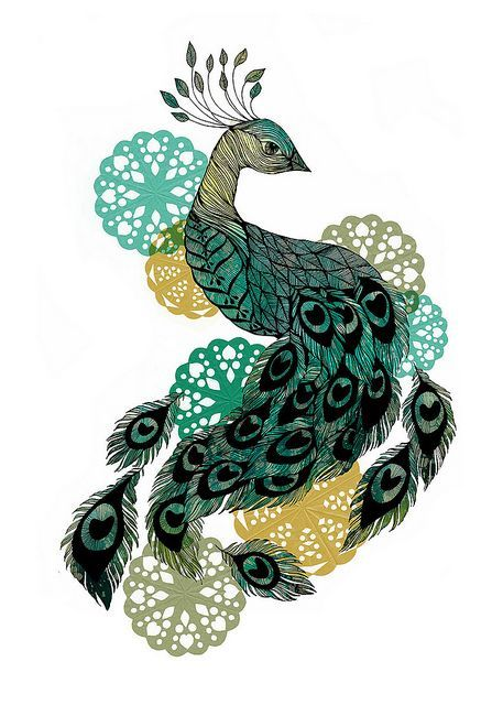 Small Peacock Tattoos | peacock small by Sofie Rolfsdotter