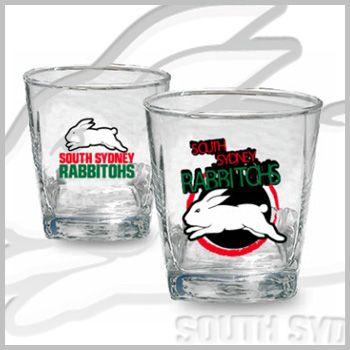 Rabbitohs 2pk Spirit Glasses $14.95
