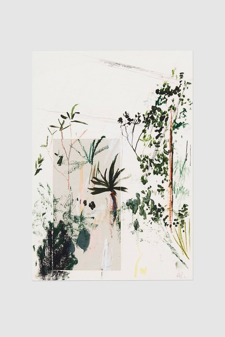 Alicia Galer Kew - Forestry print, I like the contrast on this with the cut out section and white space