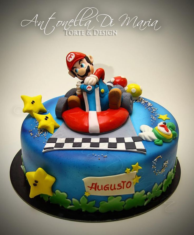 mario kart wii cake food pinterest cake and birthday. Black Bedroom Furniture Sets. Home Design Ideas