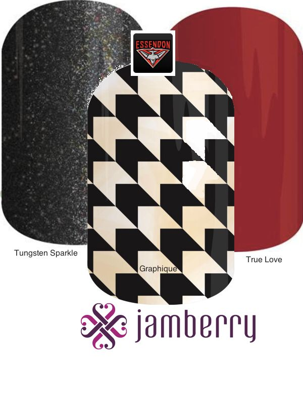 Jamberry Bombers Inspiration - Tungsten Sparkle, Graphique, True Love