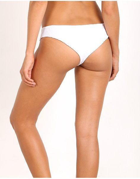 Indah Zebra Bikini Bottom | White