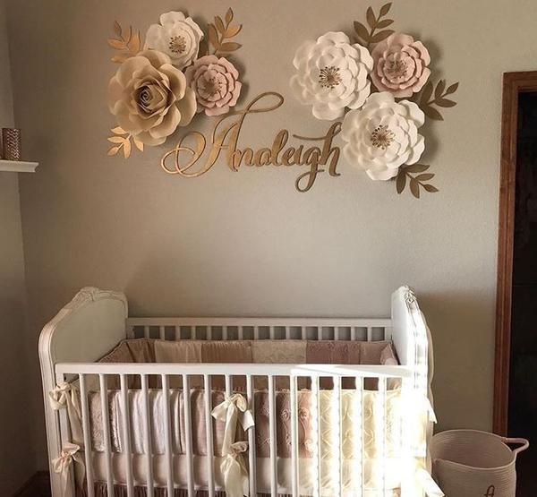 This beautiful and ornate calligraphy style custom name sign will add an extra special touch to your nursery.This sign is for ONE name, made in the same font