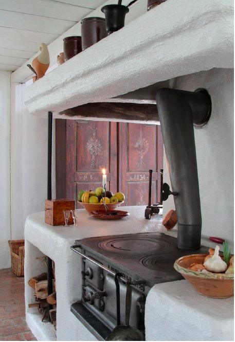 Old Swedish cast iron kitchen stove