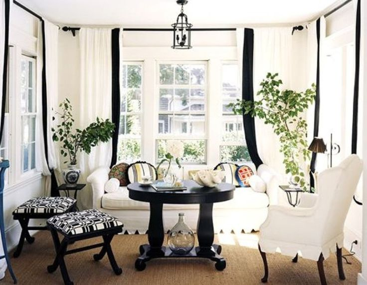 Amazing Black and White Office Ideas : Awesome Black And White Curtains