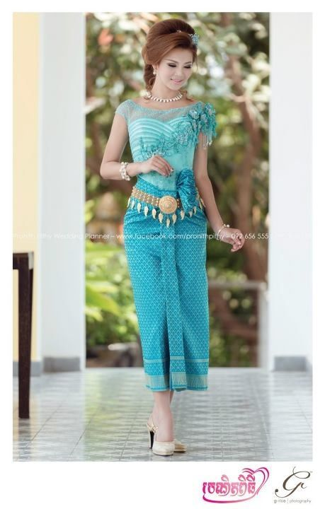 Cambodian dress color of the day