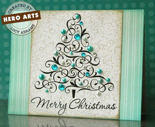 I love the look of this filigree Christmass TreeChristmas Cards, Art Cardmaking, Holiday Cards, Beautiful Christmas Trees, Cardmaking Ideas, Heroes Art, Lucy Abrams, Xmas Cards, Bling Bling