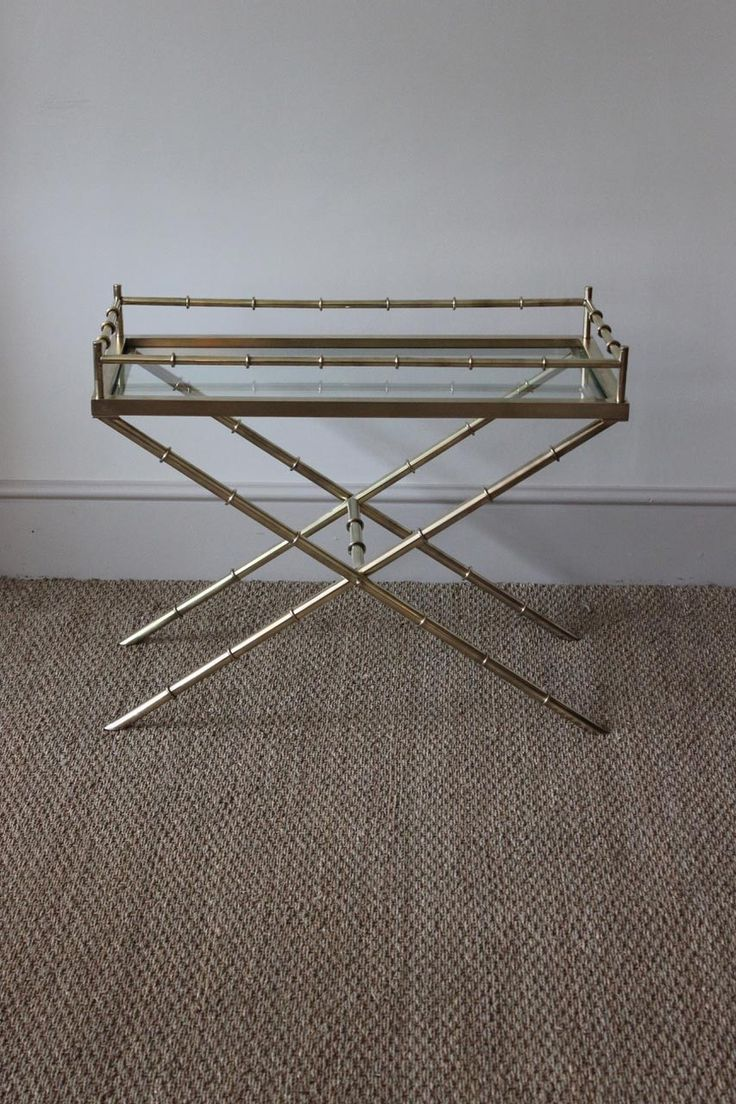A Stylish 1970s Brass 'Bamboo' Occasional Table