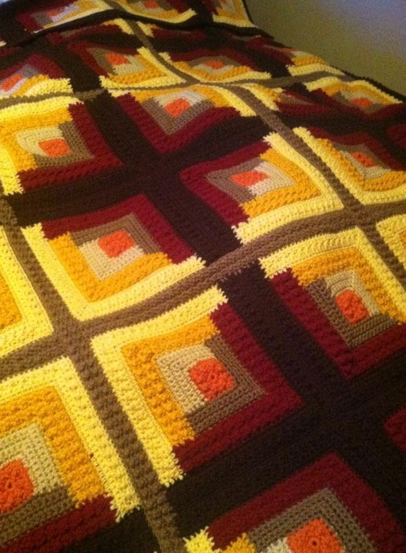 2478 best images about afghans on pinterest hairpin lace for Log cabin blanket