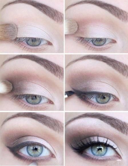 Light Makeup - like how the eyeliner doesn't start until the middle of the eye. don't like eyeliner on the bottom.