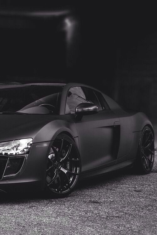 Audi R8 in Matte black. Thoughts? HOT or NOT? #TinderforCars