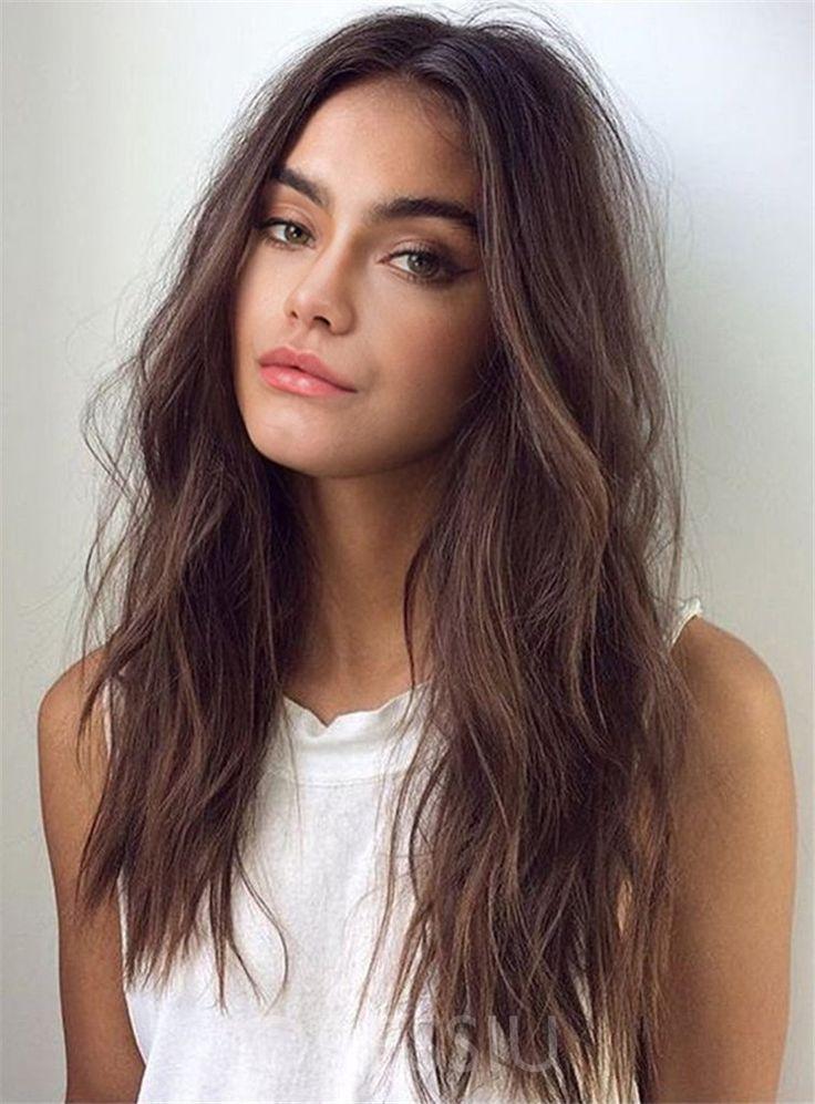 Artificial Hair Lengthy Wavy Capless Wigs 20 Inches For White Girls Dressiu Capless Dressiu Long Hair Styles Medium Length Hair Styles Medium Hair Styles