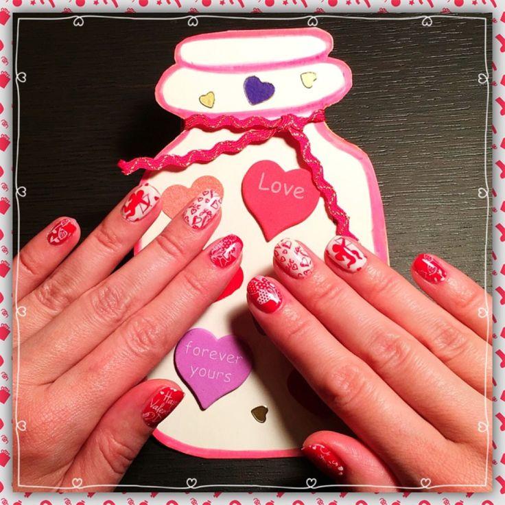 Маникюр ко Дню Святого Валентина! #konad #moyoulondon  #stampingnailart #shellac #nails #nailart #nailpolish #gelish #shellacnails #shellacmanicure #cnd #ногти #маникюр #шелак #гельлак#manicure #стемпинг  #beauty #beautiful #instagood #pretty #girl #girls #stylish  #nailart #art #stamping