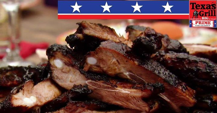 Rib Mania Tuesday! Eat as much ribs as you can at Texas Grill tonight. View more specials here, http://apost.link/2T3. #texasgrill #george