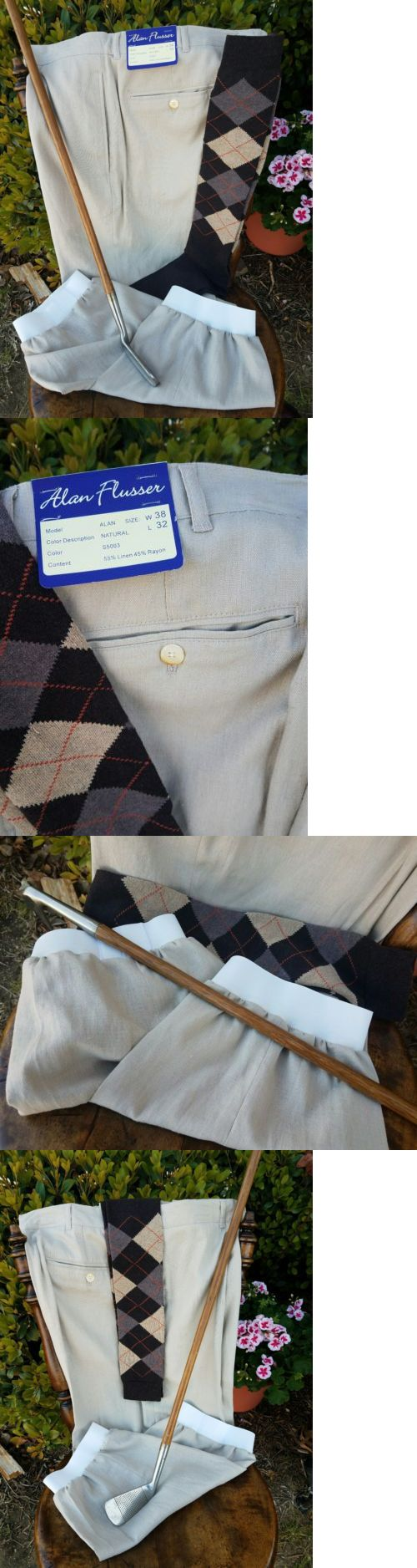 Other Golf Clothing 158939: Golf Knickers 38 Nwt! Alan Flusser Linen Rayon! New Argyles! Nice! -> BUY IT NOW ONLY: $34.95 on eBay!