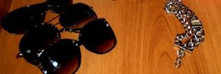 Shades + DKNY watch