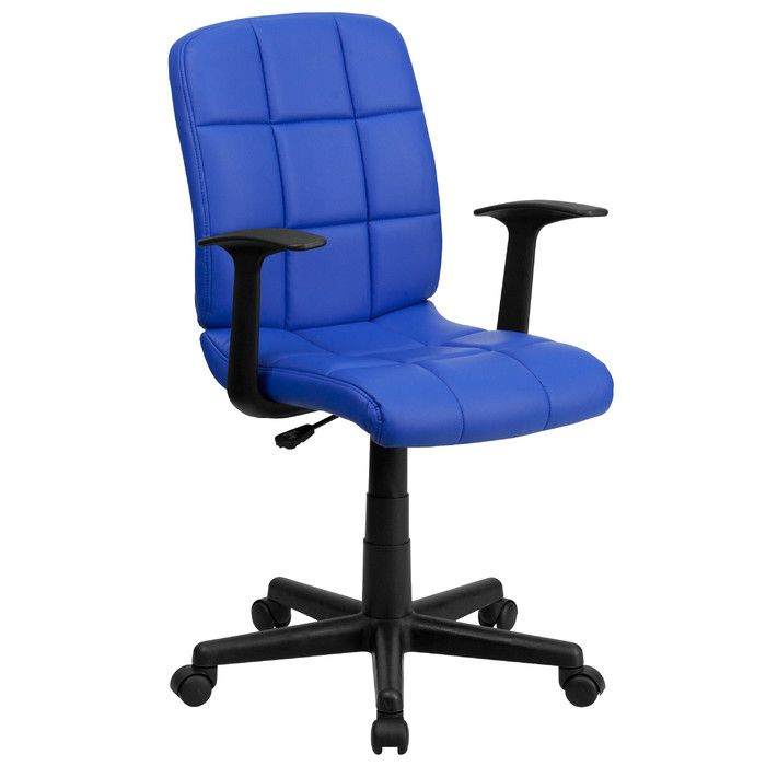 Flash Furniture Quilted Vinyl Mid Back Swivel Task Chair BlueBlack  Overall  Dimensions 34 to 38 x x Weight capacity tested to support 250 lb at Office  Depot  12 best Famous Furniture images on Pinterest   Chairs  . Office Depot Purple Chair. Home Design Ideas