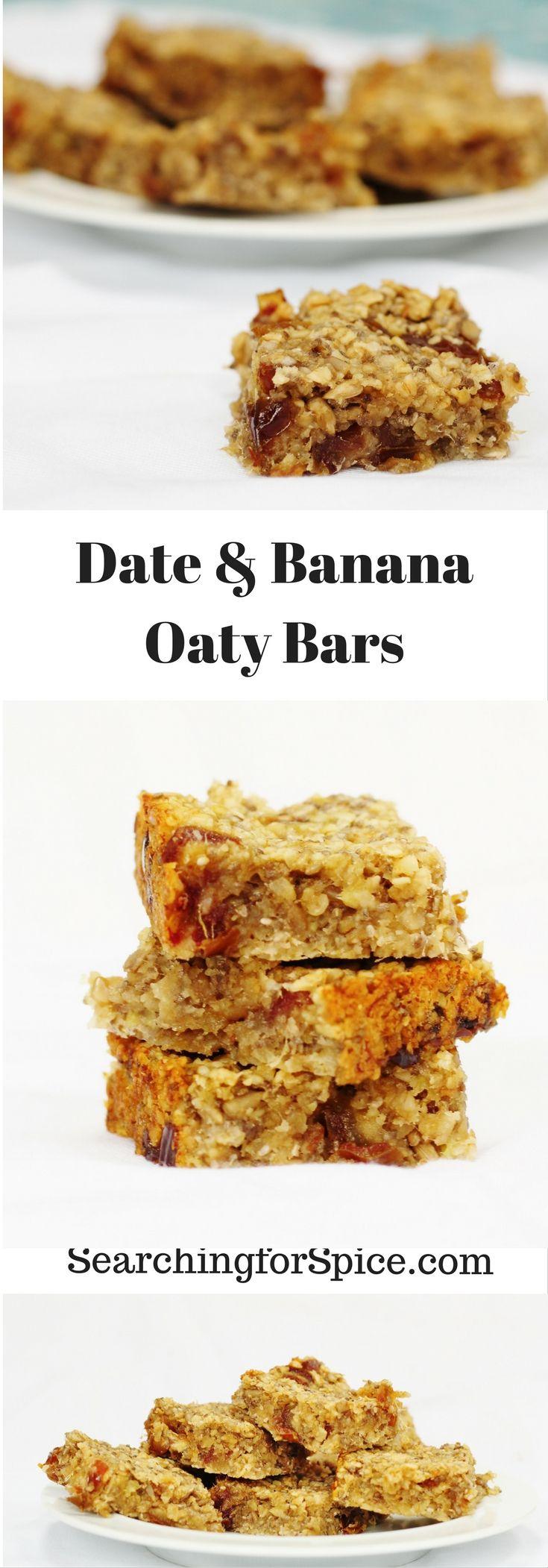 Date and Banana Oaty Bars