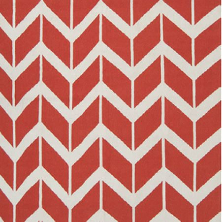 Chevron Poppy Red Rug