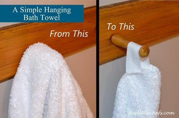 A Simple Hanging Bath Towel