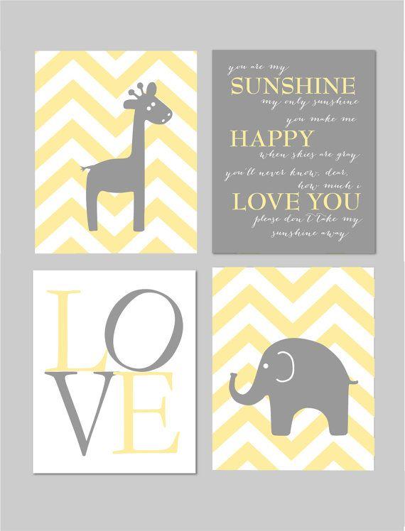 Carousel Designs Gray and Yellow Zig Zag Crib Bedding Nursery Prints  by karimachal
