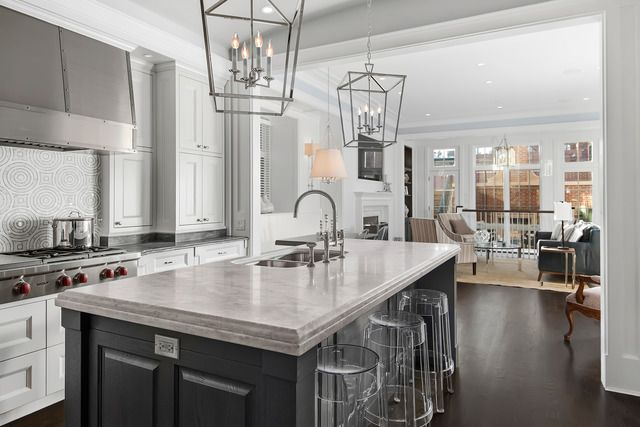 Countertops with stainless sink kitchen and the long countertop see