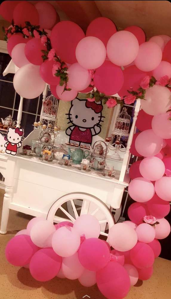 Hello Kitty Birthday Party Ideas Photo 1 Of 6 Hello Kitty Birthday Party Hello Kitty Birthday Hello Kitty Birthday Party Decorations