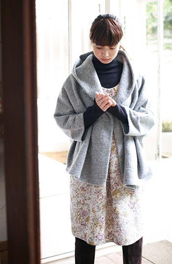 SUNNY CLOUDS [サニークラウズ]|サニークラウズ ゴブラン織り風プリントワンピ〈レディース〉の会|フェリシモ
