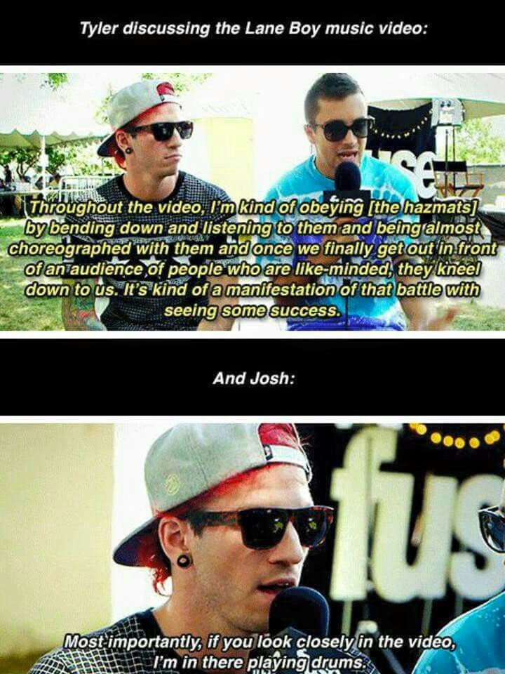 Tyler and josh about the lane boy video