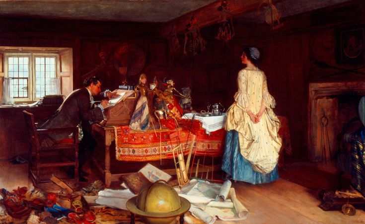 Francis Davis Millet (1848-1912), The Expansionist (The Traveled Man).