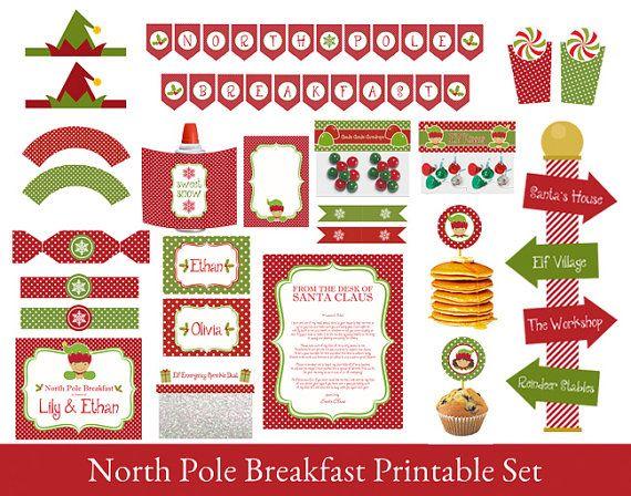 North Pole Breakfast Printable Set