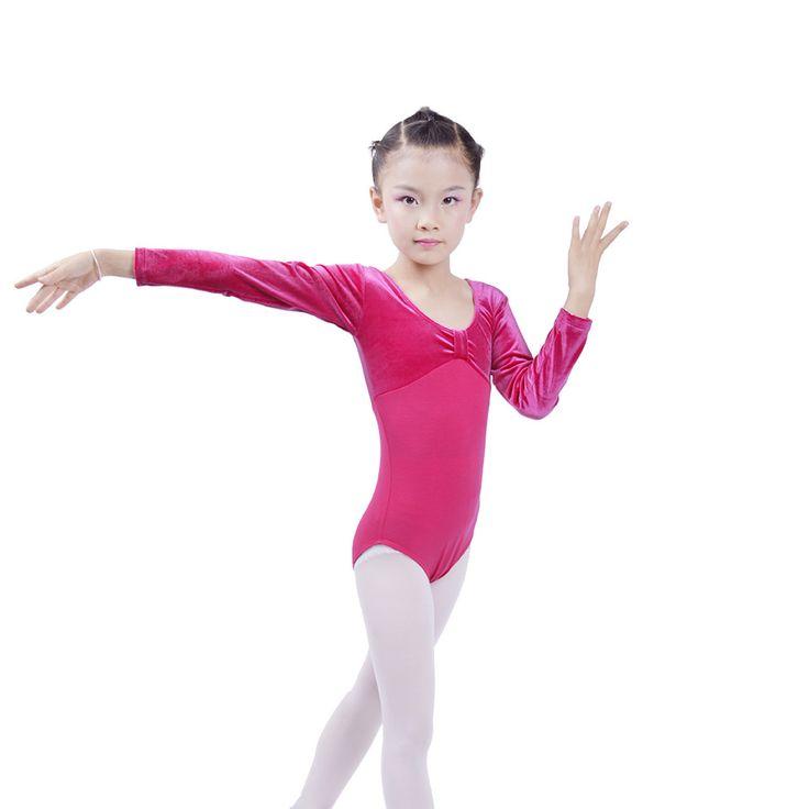 >> Click to Buy << Autumn Gymnastic Leotard Long Sleeved Velet Children Dance Bodysuit Underwear Uniform justaucorps gymnastique enfant #Affiliate