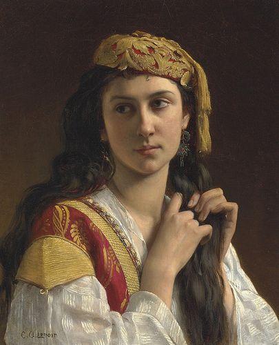 Jeune fille grecque, par Charles-Amable Lenoir (French, 1861-1940)