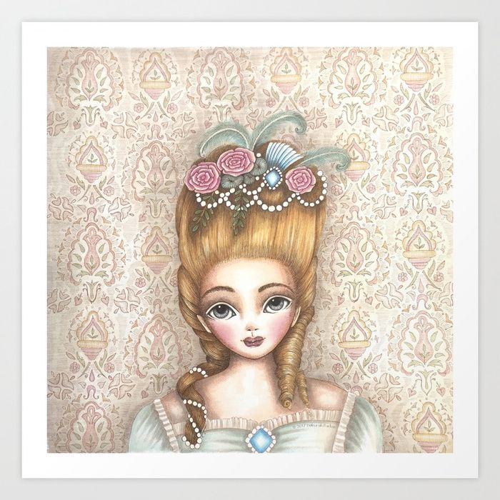 Marie Antoinette Art Print by mookoodesign. Worldwide shipping available at Society6.com. Just one of millions of high quality products available.