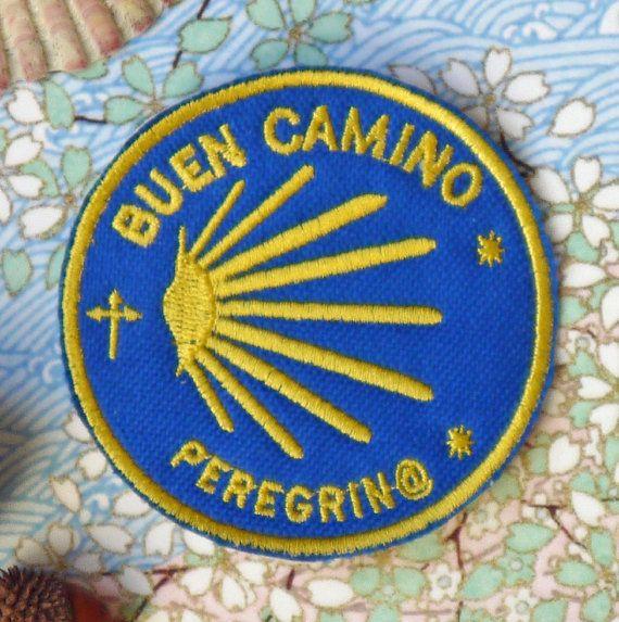 Pilgrim Cloth Patch, St James Way Patch, Camino de Santiago Patch, Buen Camino Peregrin@ Patch