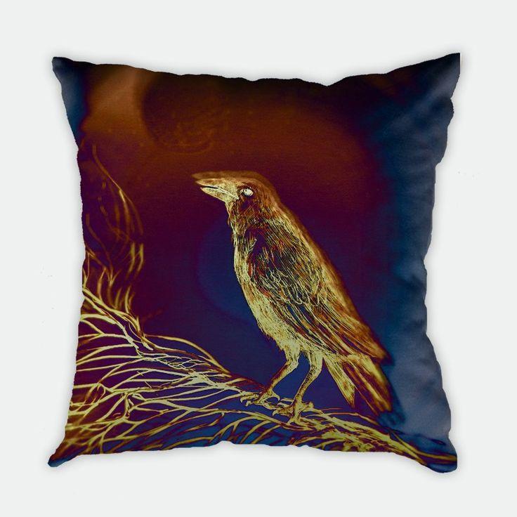 Crow Cushion Cover