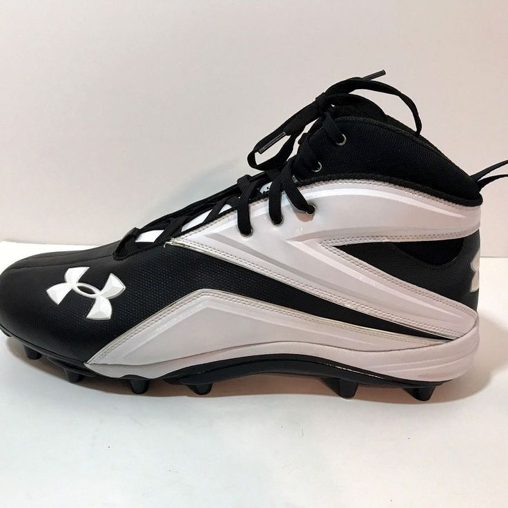 Under Armour Shoes Sz 17 Athletic 4D Foam Cleat Black White EU 50.5 New |  Clothing