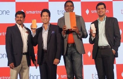 A Hyderabad based smart devices manufacture, Smartron, announced their first smartphone called tphone. The new smartphone, tphone, was launched by Sachin Tendulkar in presence of Telangana's IT minister Kt Rama Rao.