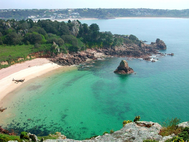 Beauport Bay, Jersey. Been there and would love to live there...