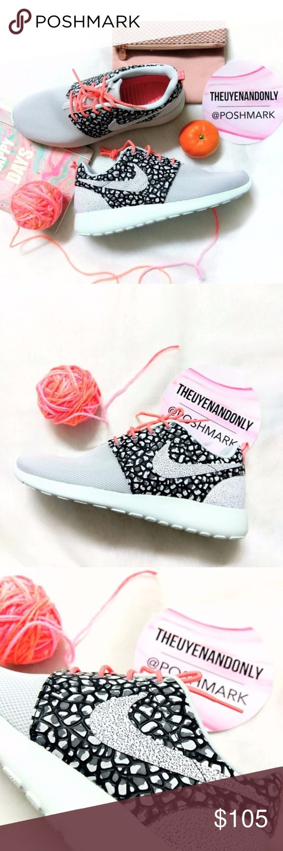 💠NEW💠 Nike Roshe One Premium Print Women 💠NEW WITHOUT BOX 💠COLOR: Pure Platinum/Black/Fiberglass/White 💠100% Authentic  💠NO TRADE  💠Accept Reasonable Offer ONLY 💠SHOES ONLY. Other accessories in the cover pic are not included. Price firm during sale 💠 RUDE COMMENTS will be reported directly to Poshmark 💠Please note: Colors might appear a bit darker OR lighter due to differences in phone/computer monitor. Nike Shoes Sneakers