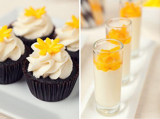 black and yellow desserts