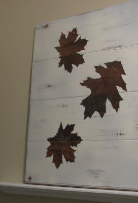 House decor that the kids can help with and be proud of! :) pottery barn inspired fall art