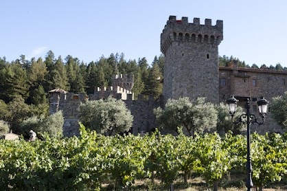 Beautiful Napa Valley Vineyard and Winery Castle near Aurora Park, Calistoga