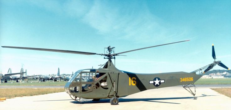 Sikorsky R-4 Helicopter, used for the American Air Force during the second world war. The Sikorsky R-4 represented the first helicopter within the United Stated to be mass produced, with over 100 created before being replaced.