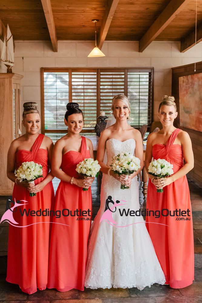 17 Best images about Coral Bridesmaid Dresses on Pinterest