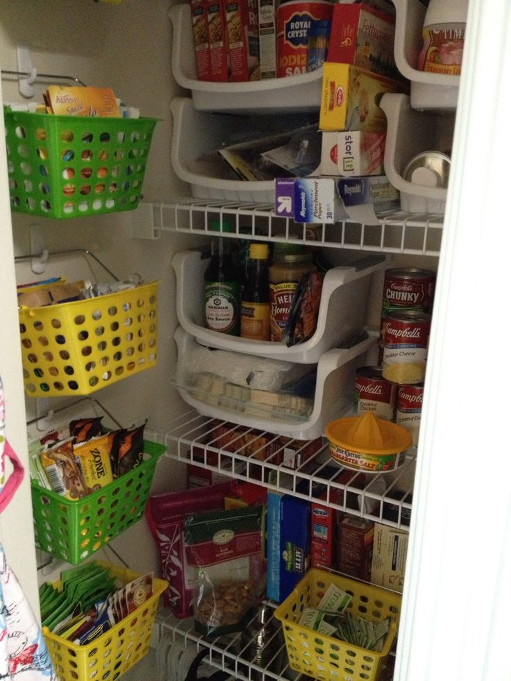 Small pantry organization using dollar store items for Small kitchen storage ideas