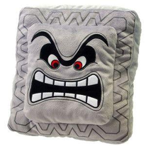 Super Mario Bros Thwomp pillow